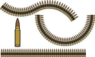 conjunto de cinto de bala vetor