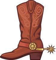 bota de cowboy colorida vetor