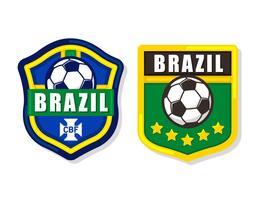 Patch de futebol do Brasil vetor