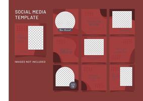 modelo feed quebra-cabeça moda mulheres vetor de mídia social