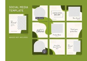 modelo de mídia social, quebra-cabeça, moda, mulheres, feed vetor