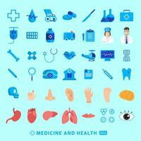 conjunto de ícones medicina vetorial vetor