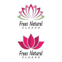 vetor de beleza flores de lótus design logotipo modelo conjunto de ícones