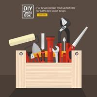 caixa de ferramentas faça você mesmo vetor