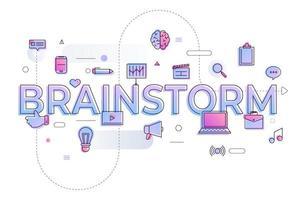 brainstorm de palavra de negócios vetor