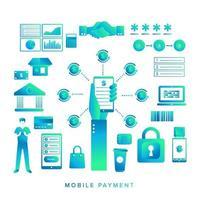 pagamento móvel ilustrar vetor