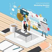 ilustração de marketing digital vetor