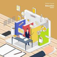ilustrações de marketing digital vetor