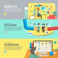 ilustração do curso educacional de marketing digital vetor