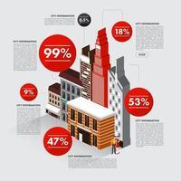 construção de ilustrações infográfico vetor