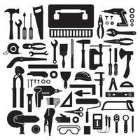 conjunto de ícones, ferramentas de hardware vetor