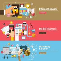 ilustração de banner de marketing digital vetor