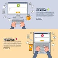 feedback de ilustrações de marketing digital vetor
