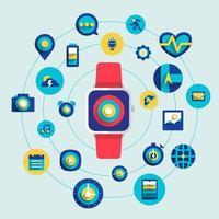 design de conceito de smartwatch vetor
