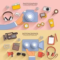 ilustrações de conteúdo de vídeo de marketing digital vetor