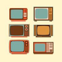 Aparelho de televisão antiga vetor