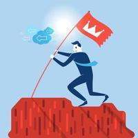 crescimento de sucesso de empresário vetor