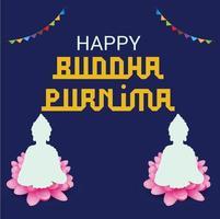 ilustração de um fundo para feliz buddha purnima. vetor