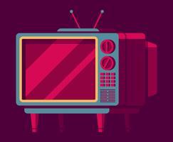 Conjunto Retro Televison vetor