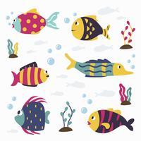 Vetor de coleção de peixe