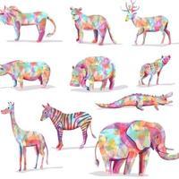vetor animal colorido