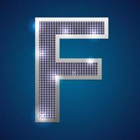 alfabeto piscando f vetor