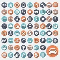 serviço de carro de ícone vetor