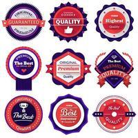definir ícone de emblemas de vetor