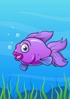 Sorria peixe dos desenhos animados vetor