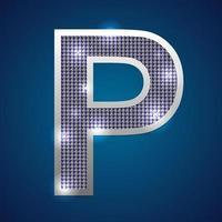 piscar do alfabeto p vetor