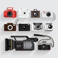 vetor definido câmera e elemento de vídeo