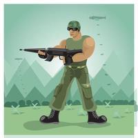 ilustrações de ação soilder