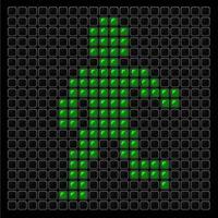 sinal de faixa de pedestres luz verde vetor