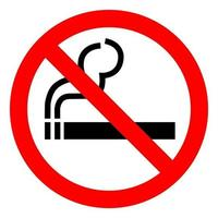 Sinal de símbolo proibido fumar isolado no fundo branco, ilustração vetorial eps.10 vetor