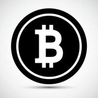 Sinal de símbolo do ícone bitcoin isolado no fundo branco, ilustração vetorial eps.10 vetor