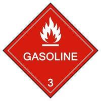 sinal de símbolo de gasolina isolado em fundo branco, ilustração vetorial eps.10 vetor