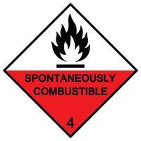 Sinal de símbolo de combustível espontâneo isolado em fundo branco, ilustração vetorial eps.10 vetor