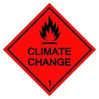 sinal de símbolo de mudança climática isolado em fundo branco, ilustração vetorial eps.10 vetor