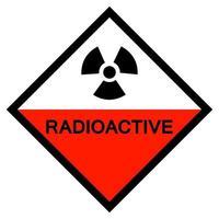sinal de símbolo radioativo isolado em fundo branco, ilustração vetorial eps.10 vetor