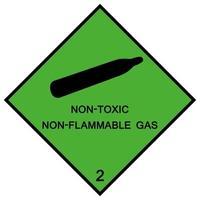 Sinal de símbolo de gás não inflamável isolado em fundo branco, ilustração vetorial eps.10 vetor