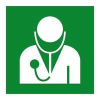 médico símbolo sinal isolado em fundo branco, ilustração vetorial eps.10 vetor