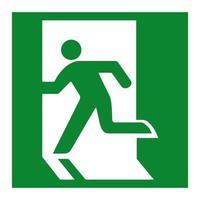 sinal verde de saída de emergência isolado em fundo branco, ilustração vetorial eps.10 vetor
