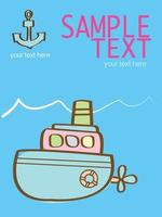 ilustração vetorial criativa com um submarino rosa vetor