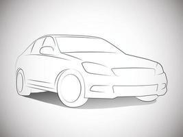 contornos vetoriais de carros esportivos dianteiros vetor