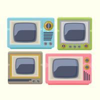 Aparelho de televisão retrô vetor