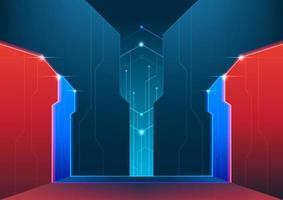 abstrato base de tecnologia futurista. conceito de estágio cibernético do e-sport. vetor
