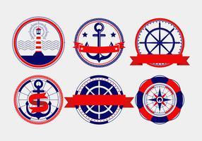 Emblemas de vetor náutico