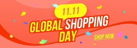 11.11 fundo do banner do cupom promocional do presente de venda de outono vetor
