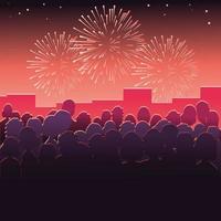 fogos de artifício em homenagem ao feriado da cidade vetor
