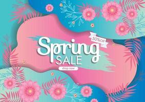 banner de venda de primavera vetor